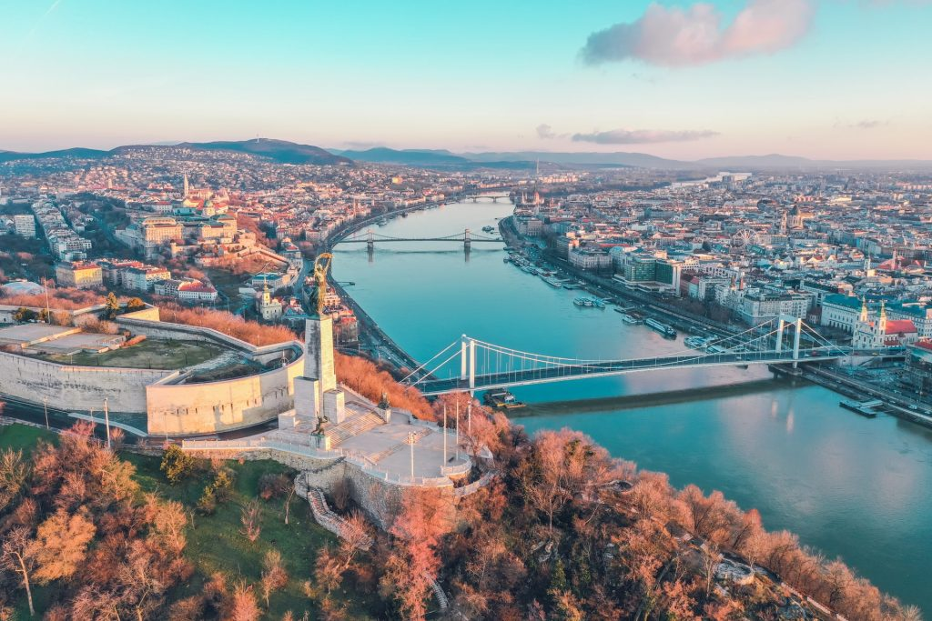 View over Gellert Hill - Where to stay in Budapest